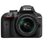 Camera foto DSLR NIKON D3400 + obiectiv AF-P 18-55mm VR , 24.2 Mp, 3 inch, negru