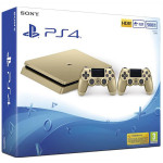 Consola SONY PlayStation 4 Slim, 500GB + DUALSHOCK 4 V2 Controler, Gold