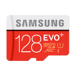 Card de memorie microSDXC 128GB SAMSUNG EVO+, Clasa 10 UHS-I + adaptor SD