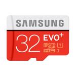 Card de memorie microSDHC 32GB SAMSUNG EVO+, Clasa 10 UHS-I + adaptor SD