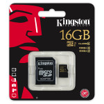 Card de memorie microSDHC 16GB clasa 10 UHS-I KINGSTON SDCA10/16GB