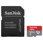 Card de memorie microSDXC SANDISK ULTRA Clasa 10 pentru filmare FullHD 80MB/sec, 64GB + Adaptor
