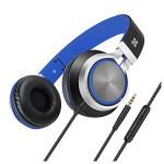 Casti on-ear cu microfon PROMATE Spectrum, Blue