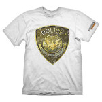 Tricou Battlefield Hardline - Police, marime XL, alb