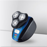 Aparat de ras REMINGTON Flex 360° XR1400, 3 capete rotative, negru - albastru