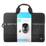 """Kit Geanta laptop + Mouse Wireless HP N3U50AA, 15.6"""", negru"""