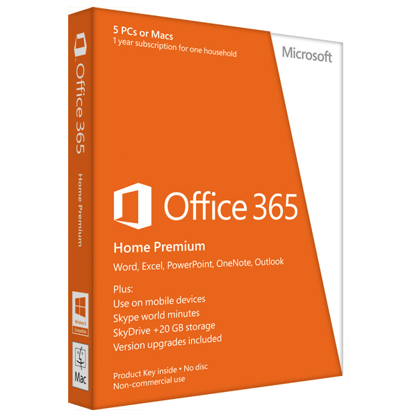 Microsoft Office 365 Home Premium 2013 32bitx64 English Subscriptie 1 An