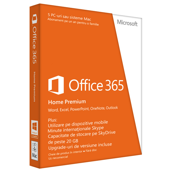 Microsoft Office 365 Home Premium 2013 32bitx64 Romanian Subscriptie 1 An