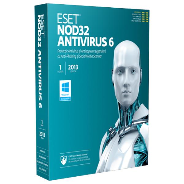 Antivirus ESET NOD32 V6 1 an 1 utilizator