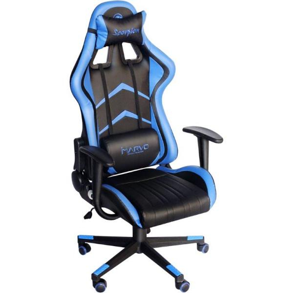 Scaun Gaming Marvo Ch-106, Negru - Albastru