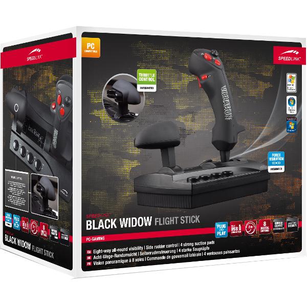Joystick PC SPEEDLINK Black Widow, 8 butoane, USB, negru