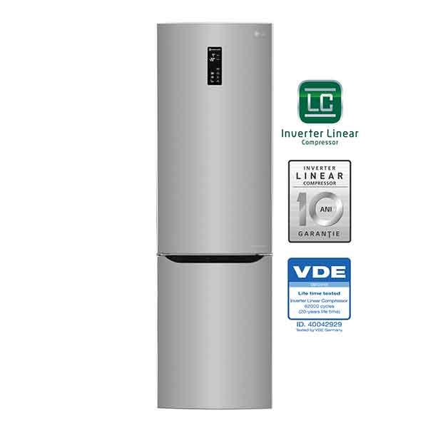 Combina frigorifica No Frost LG GBB60PZDZS 343l A argintiu