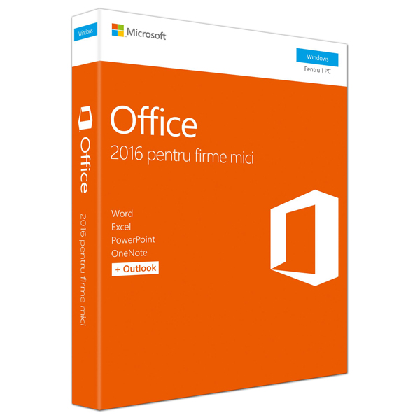 Microsoft Office Home and Business 2016 Windows PC Romana EuroZone Medialess P2