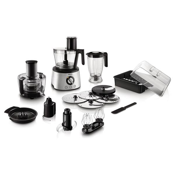 Robot De Bucatarie Philips Avance Collection Hr7778/00, Vas 2l, Blender 1.5l, 1300w, Inox
