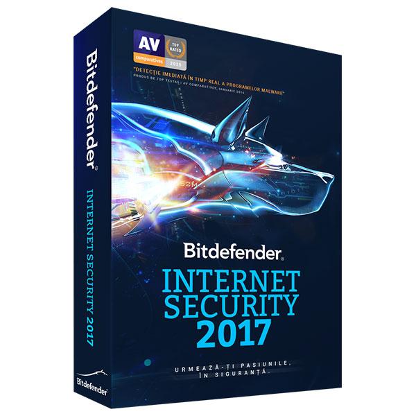 Licenta electronica BITDEFENDER Internet Security 2017 2 ani 3 PC Licenta noua