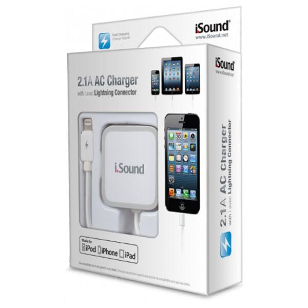 Incarcator retea pentru iPhone 5  5C  5S ISOUND 5903 White