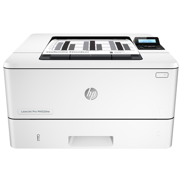 Imprimanta Laser Monocrom Hp Laserjet Pro M402dne, A4, Usb, Retea, Alb