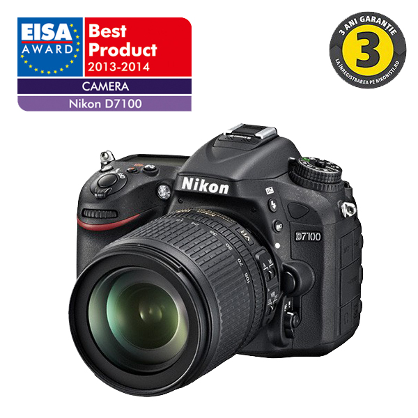 Camera foto digitala NIKON D7100 18105 241 Mp 32 inch negru