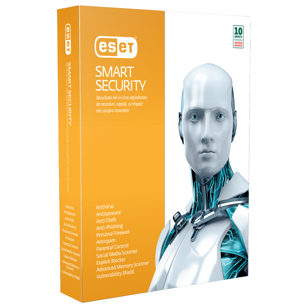 Antivirus ESET NOD32 Smart Security V7 1 an 1 utilizator