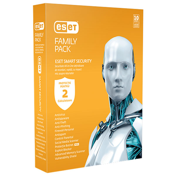 Antivirus ESET NOD32 Smart Security Family Pack V8 1 an 2 utilizatori