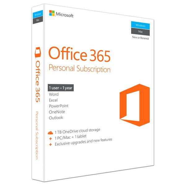 Microsoft Office 365 Personal 3264 bit Engleza EuroZone Subscriptie 1 an 1 PCMac 1 Tableta 1 Telefon