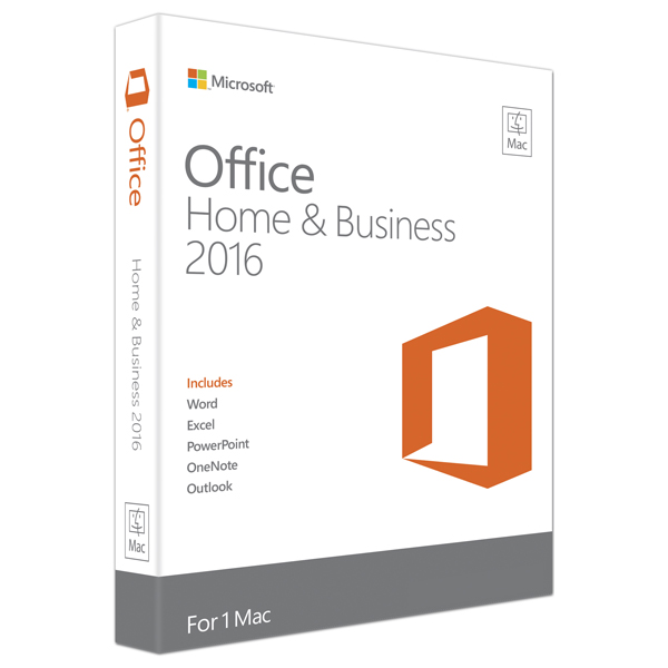 Microsoft Office Mac Home and Business 2016 1PK 2016 English EuroZone Medialess
