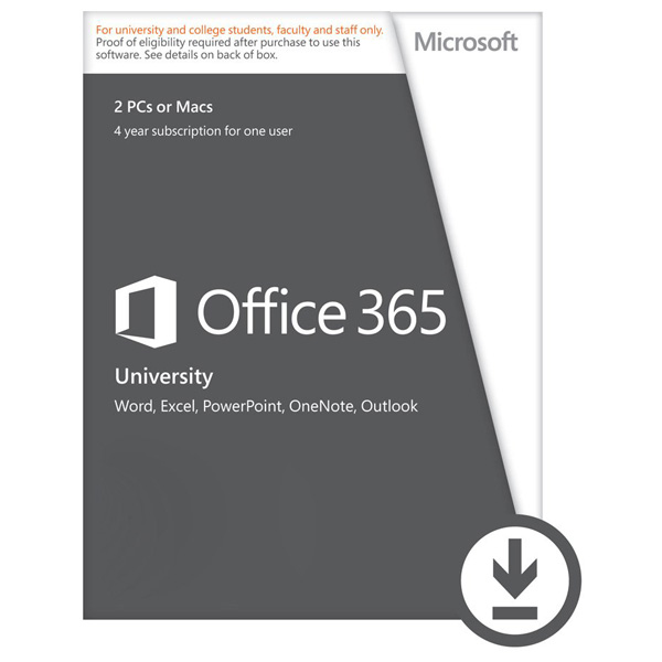 Licenta electronica ESD Microsoft Office 365 University 32bitx64 2 sisteme PCMAC sau tableta 4 ani