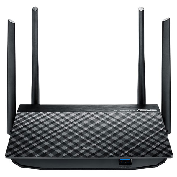 Router Wireless Asus Rt-ac58u Ac1300, 400 + 867 Mbps, Gigabit, Usb 3.0, Negru