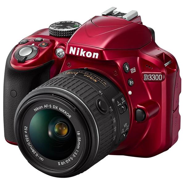 Camera foto digitala NIKON D3300 1855 VR II 242 Mp 3 inch rosu