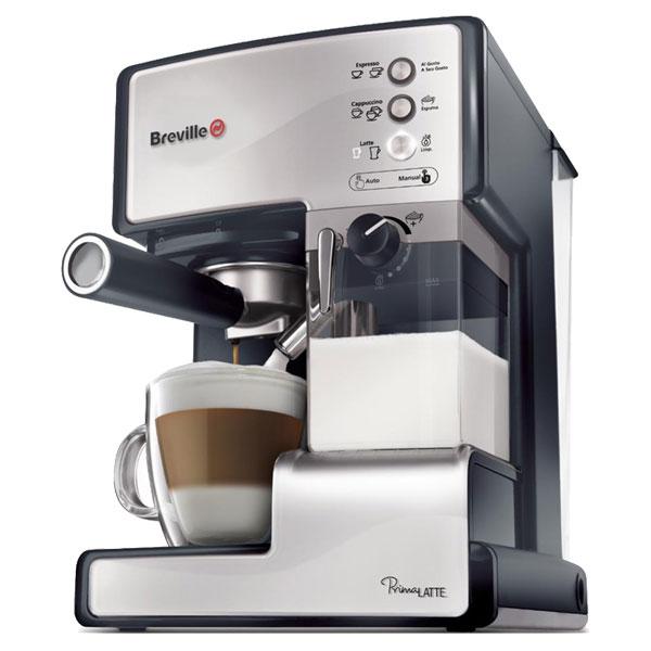 Espressor semiautomat BREVILLE Prima Latte VCF045X01 15l 15 bar negruargintiu