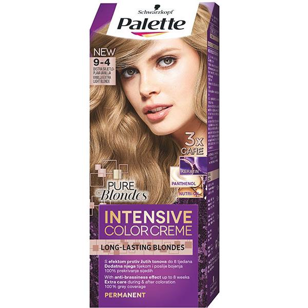 Vopsea De Par Palette Intensive Color Creme 9 4 Blond Deschis 110ml
