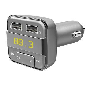 Modulator FM HAMA 14156, Bluetooth, MicroSD, USB, gri