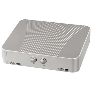 Adaptor HDMI HAMA 42543, 2 X intrari HDMI, 1 X iesire HDMI, argintiu