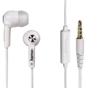 Casti HAMA HK2114 122689, Cu Fir, In-Ear, Microfon, alb
