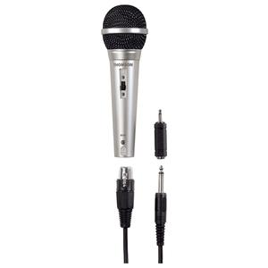 Microfon THOMSON M151, Jack 6.35 mm / Slot XLR , 3m, argintiu