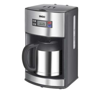 Cafetiera electrica UNOLD U28465, 1.2l, 1000W, argintiu
