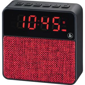 Radio cu ceas HAMA Poket Clock 173168, 3W, Bluetooth, rosu