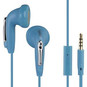 Casti HAMA HK1216 177089, Cu Fir, In-Ear, Microfon, albastru