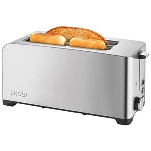 Prajitor de paine UNOLD U38356, 2 sloturi extra lungi, 1400W, argintiu