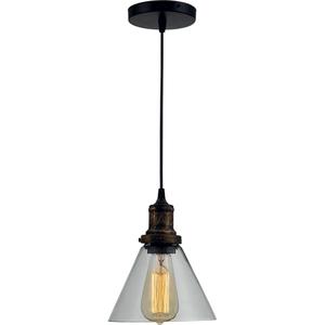 Pendul ERSTE LICHT Edison 0029478, 1x60W, E27, negru-bronz