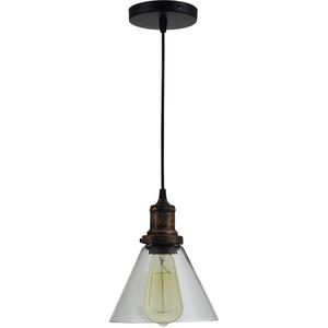 Pendul ERSTE LICHT Edison 0029479, 60W, E27, negru-bronz