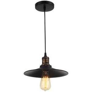 Pendul ERSTE LICHT Edison 0029480, 60W, E27, negru-bronz