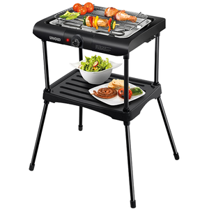 Gratar electric UNOLD Black Rack U58550, 2000W, negru