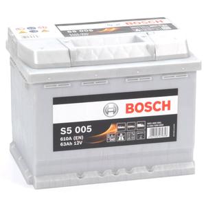 Baterie BOSCH S5 005 12V 63AH 610A