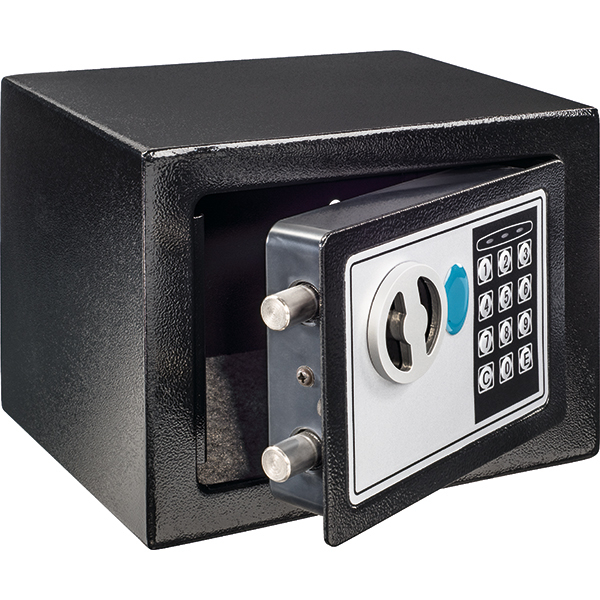 Seif electronic Hama Premium Home EP 170, otel, negru