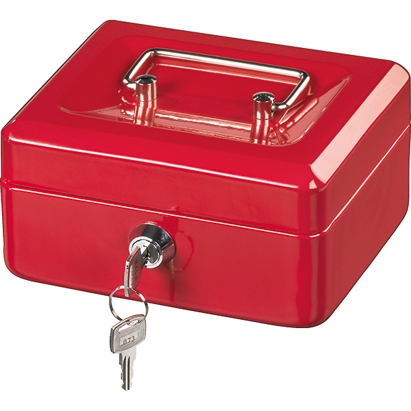 Caseta de valori Hama Basic KC 150D, otel, rosu