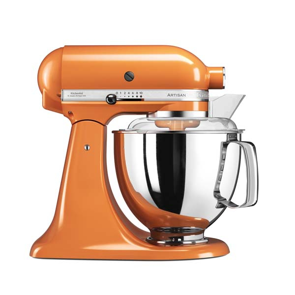 mixer cu bol kitchenaid artisan elegance 5ksm175psetg 10 trepte de viteza 300w tangerine. Black Bedroom Furniture Sets. Home Design Ideas