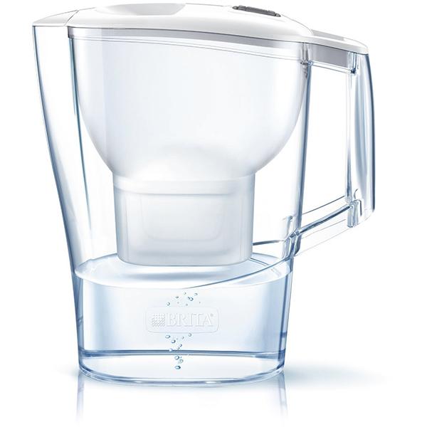 Cana filtranta BRITA Aluna Frosted BR1026421, 2.4l, alb-transparent