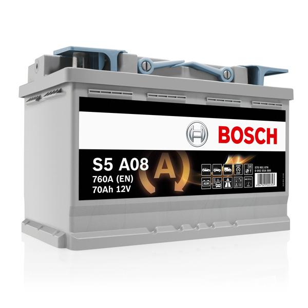Baterie Start-stop AGM BOSCH S5A08 12V 70AH 760A