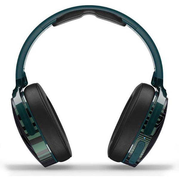 Casti SKULLCANDY Hesh 3 S6HTW-L638, Bluetooth, Over-Ear, Microfon, verde inchis